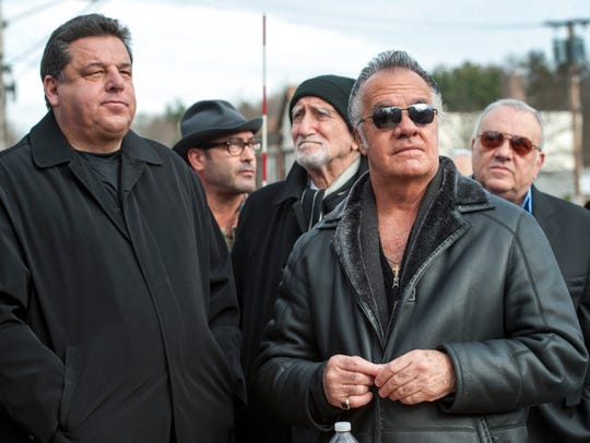 """A preponderance of the items in the auction seemto have originated withone actor, Steve Schirripa, left, who played Bobby """"Bacala"""" Baccalieri. He appeared with Tony Sirco at a ceremony in Park Ridge in 2013 declaring Dec. 1 James Gandolfini Day."""