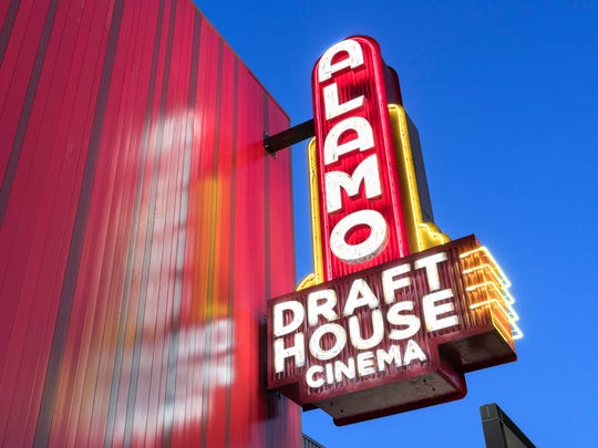 Signage for Alamo Drafthouse Cinema in Tempe.