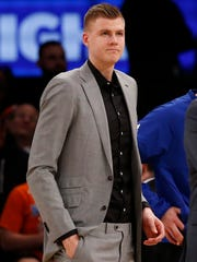 Knicks forward Kristaps Porzingis sat out a fourth straight game Wednesday when the Knicks played the Celtics in Boston. He may face worse news this morning when the second-year star is set to undergo an MRI on his sore left Achilles.
