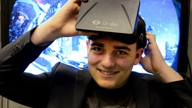 Palmer Luckey, 24, creator of VR google Oculus Rift, which he sold to Facebook in 2014 for around $3 billion.