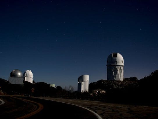 Night view of Kitt Peak National Observatory.