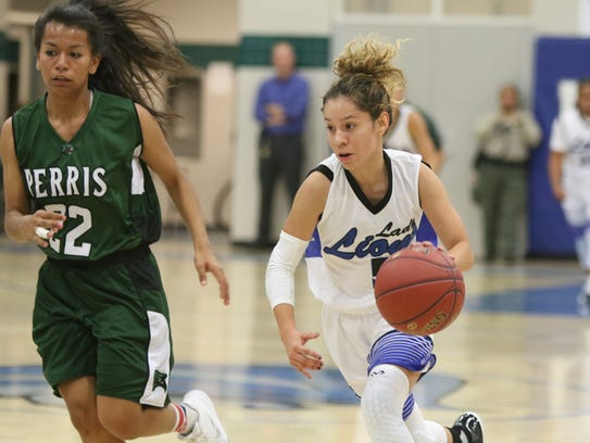Cathedral City girls basketball host Perris High in