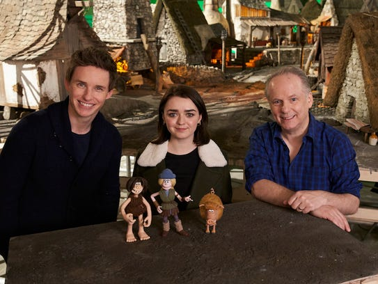 Actors Eddie Redmayne (from left) and Maisie Williams