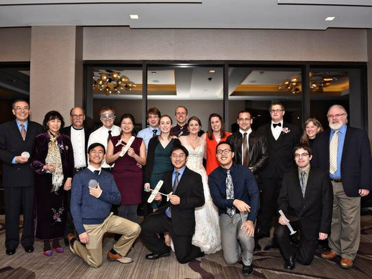 Bryan Graves and Elizabeth Bloemen invited their Science