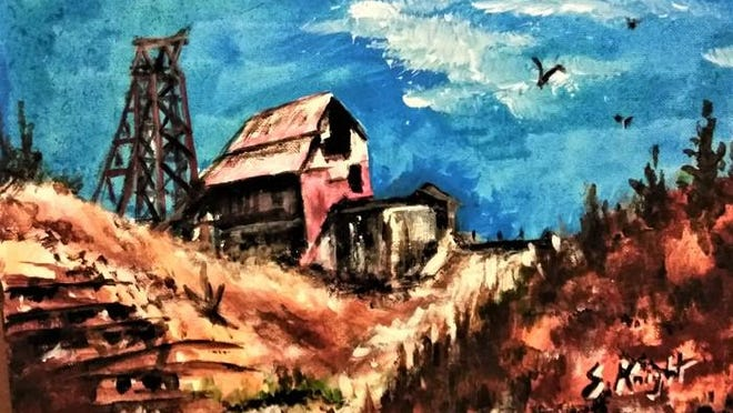 """The Old Mines,"" by Shirley Knight, on display at Steel City Art Works, 216 S. Union Ave."
