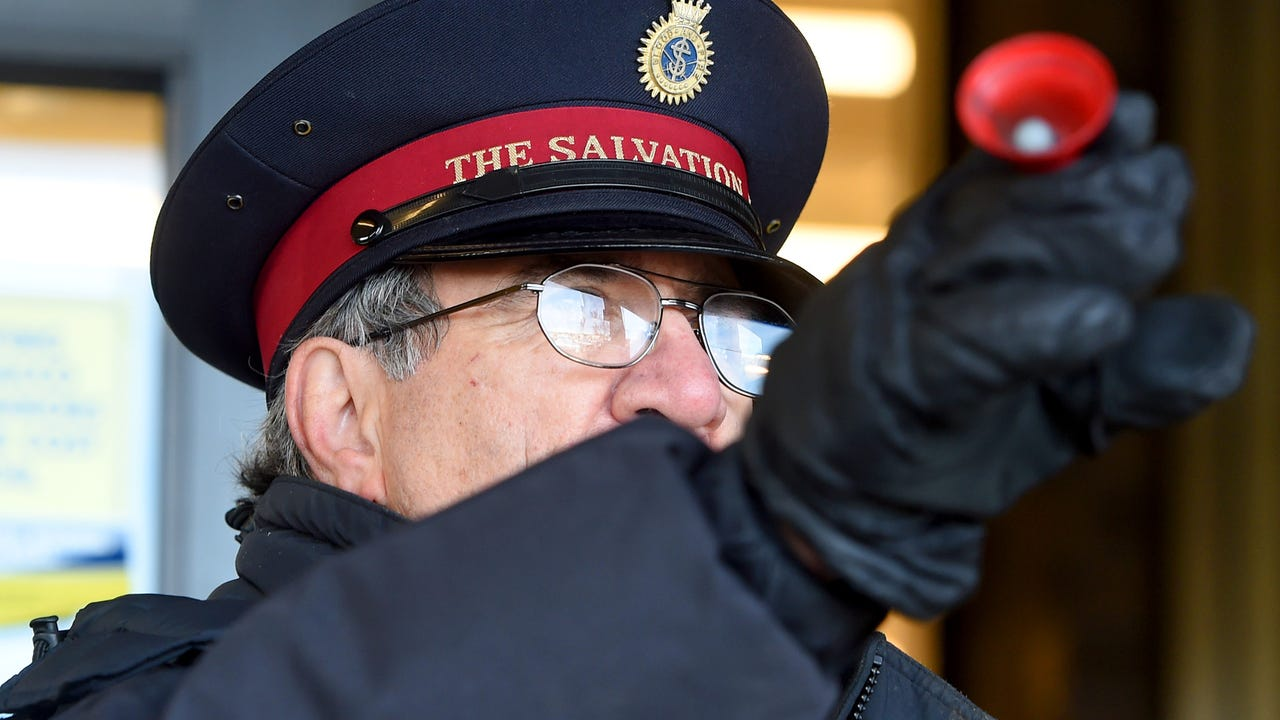 Sgt. Mag. Darrell Jones of the Salvation Army in Waynesboro devotes 10-hours everyday ringing the bell during the Christmas holiday season.