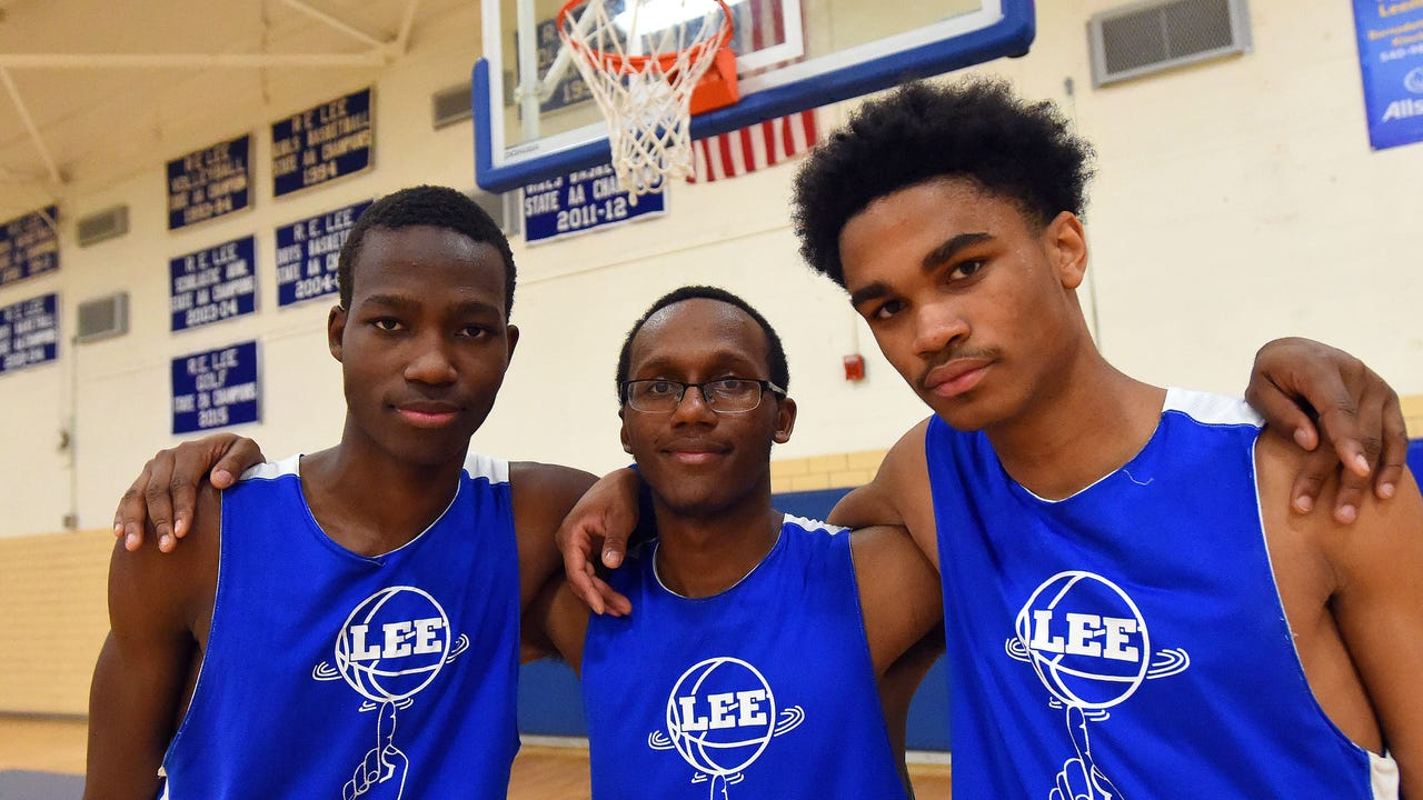 Meet R.E. Lee seniors Darius George, Tyrese Haliburton and Manny Johnson. The Group 2A state championship in Richmond is the last game of their high school basketball careers.