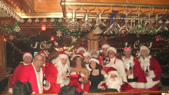 Don't be surprised if you see bar-hopping Santas on bikes Friday for The Sardine Can's annual Cycling Santas event.