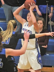 Simon Kenton sophomore Morgan Stamper looks for an