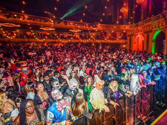 Big, loud and colorful, the Monster's Ball draws up to 2,000 revelers to the Fillmore Detroit.