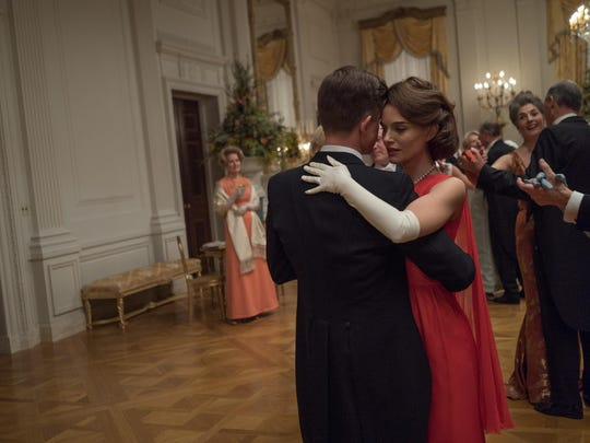 "Caspar Phillipson and Natalie Portman in ""Jackie."""