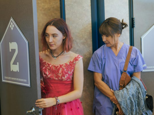 """Saoirse Ronan, left, and Laurie Metcalf star in """"Lady Bird."""""""