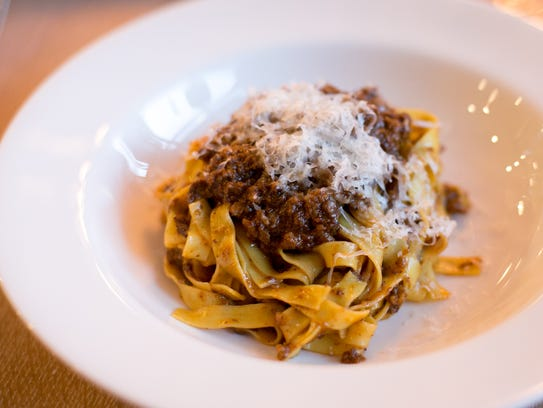 The tagliatelle at Osteria Morini, featuring pasta