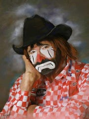 Lecile Harris of Collierville is a four-time national rodeo clown of the year.
