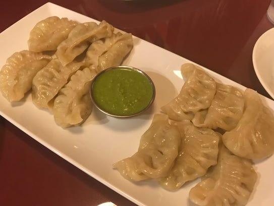 Vegetable steamed momo (dumplings) at Everest Restaurant