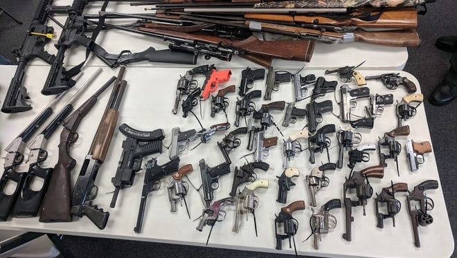 Officials said 73 guns were turned in at the gun buyback on June 30.