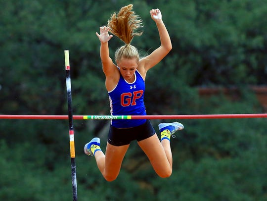 Gregory-Portland's Riley Floerke competes in the girls