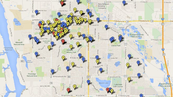 Noise and party complaints in Fort Collins.