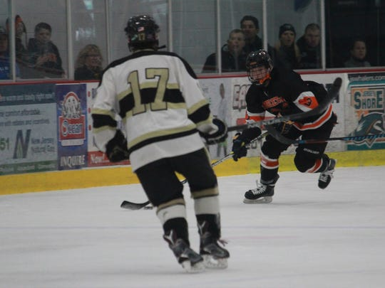 John Hallard scored one in regulation and again in the shootout to lead Middletown North to a 4-3 win over Point Boro.