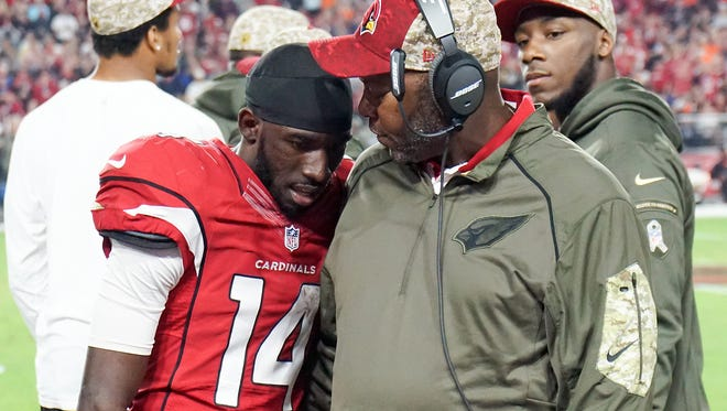 """J.J. Nelson (left) is featured in """"All or Nothing: A Season with the Arizona Cardinals."""""""