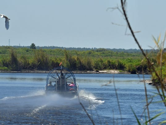 Low water levels St. Johns River