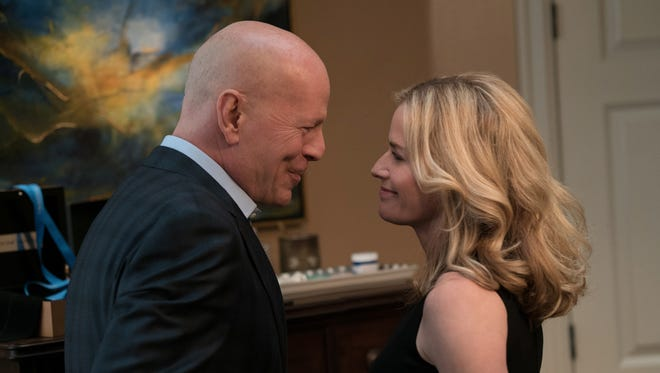 """What a beautiful couple: It's Paul (Bruce Willis) and Lucy (Elisabeth Shue) Kersey in """"Death Wish."""""""
