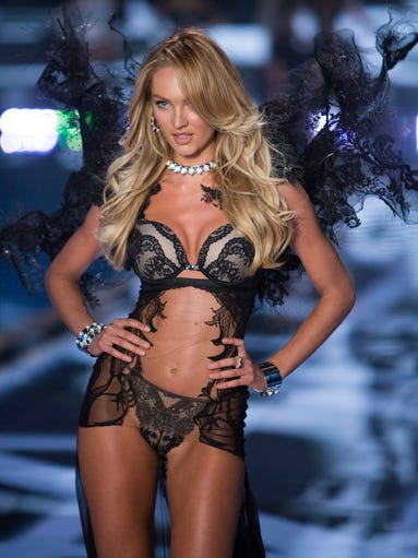 Veteran Angel Candice Swanepoel gives a look on the