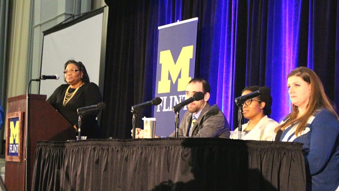 Panelists at the University of Michigan's Flint Water Crisis Course on Jan. 21, 2016.