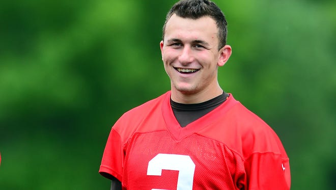 Browns quarterback Johnny Manziel during minicamp Thursday at the Browns' training facility.