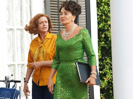 """Susan Sarandon as Bette Davis, left, and Jessica Lange as Joan Crawford in """"Feud: Bette and Joan."""""""