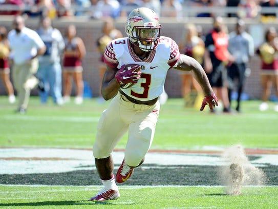 Florida State freshman tailback Cam Akers looks to
