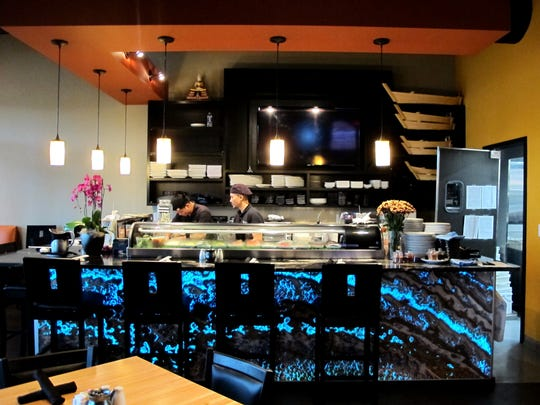 The sushi bar at the new Komoon Sushi Thai & Ceviche in North Naples.