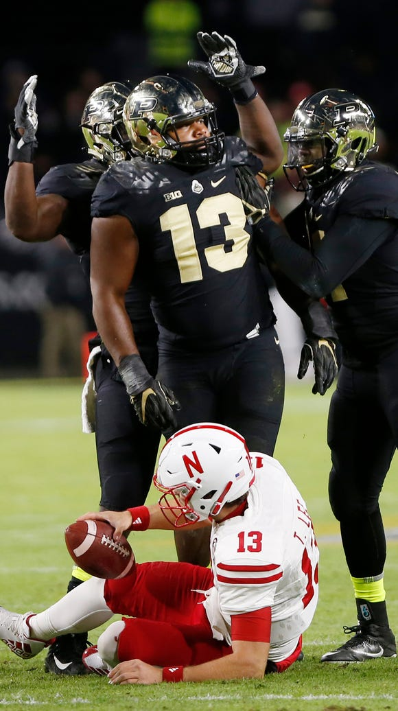 Gelen Robinson and his Purdue teammate celebrate after