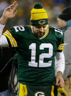 Packers QB Aaron Rodgers is undefeated at Lambeau Field this season.