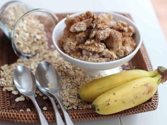 Banana bread oatmeal.