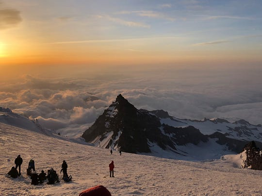 Because of the altitude and temperatures, an early morning start was essential to making to top of Mount Rainier, the climbers were told.