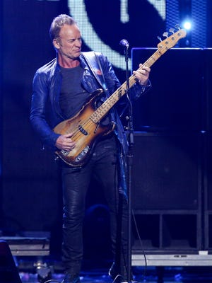 Sting performs at the 2016 iHeartRadio Music Festival - Day 2 held at T-Mobile Arena in Las Vegas - on Sept. 24.