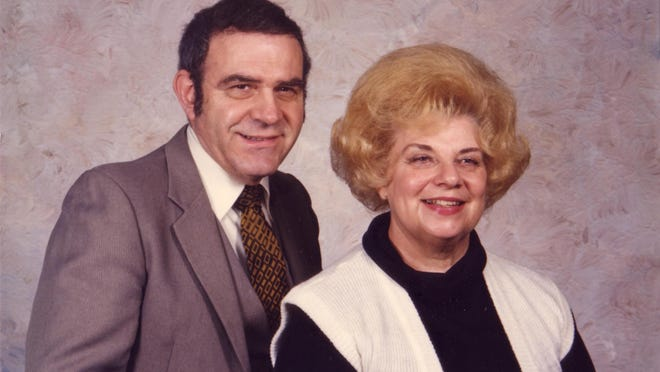 John Bertelson with his wife, Marcella. He died May 31 at 86.