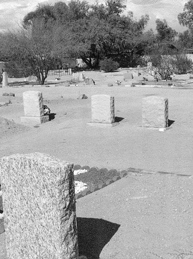 Early photo of Camelback Cemetery on McDonald Drive, a half mile west of Scottsdale Road.