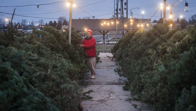 The Muncie Kiwanis Christmas tree lot, shown here in a photo from a past year, has been canceled for 2020, the club announced.