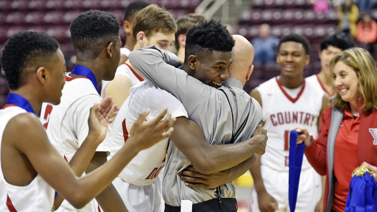 York Country Day senior Jordan Ray dedicated his District 3 Class 1A championship to former York player Nagus Griggs, who died under tragic circumstances less than a year after winning a District 3 title.