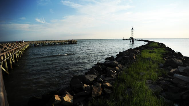 The Cape Charles fishing pier recently reopened after damages from Hurricane Sandy were repaired. The pier is a popular summer spot for locals and tourists alike and is one of many Virginia Shore fishing piers that stretch into local waters and provide anglers a quiet place to cast lines.