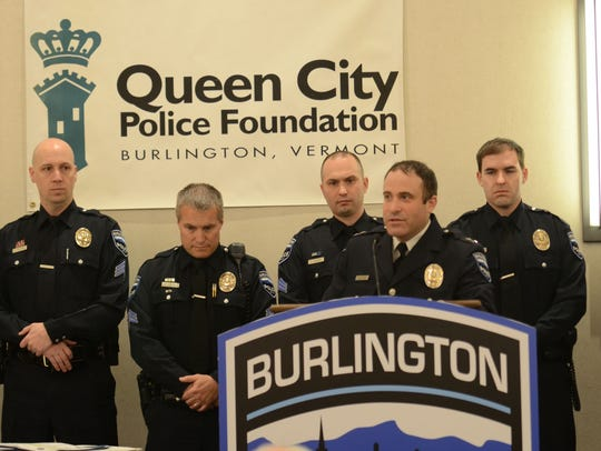 Members of the Burlington police Patrol Procedure Team