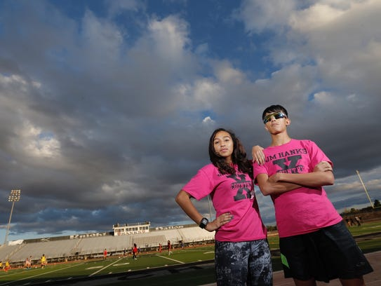 Michael and Andrea Abeyta, sibling runners at Hanks,