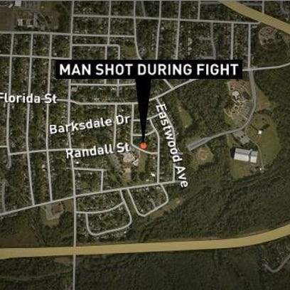 Police are investigating a fight that led to a shooting