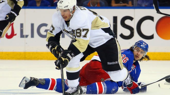 Mats Zuccarello and the Rangers need to raise their game against Sidney Crosby and the Penguins on Monday night.