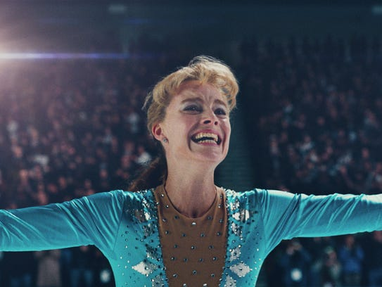 Tonya Harding (Margot Robbie) exults after a successful