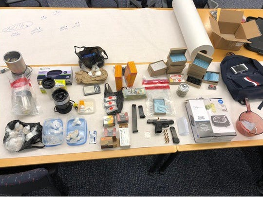 State police arrested Eric Dunn Monday and found an assortment of drugs and paraphernalia in hotel rooms he'd rented in Newark.