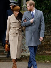 Prince Harry and his fiancée, Meghan Markle, attend Christmas Day service at St. Mary Magdalene Church in Sandringham.