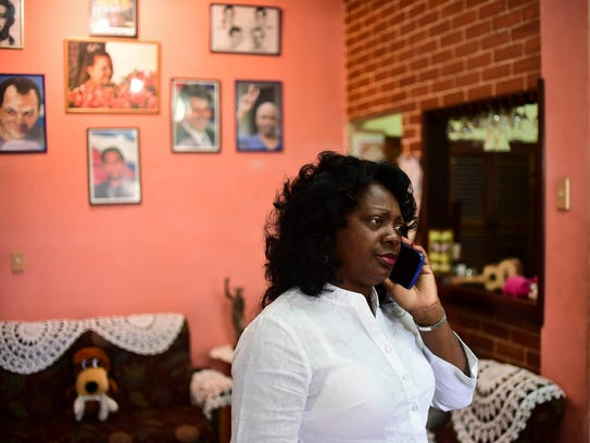Cuban dissident Berta Soler, leader of the group Ladies